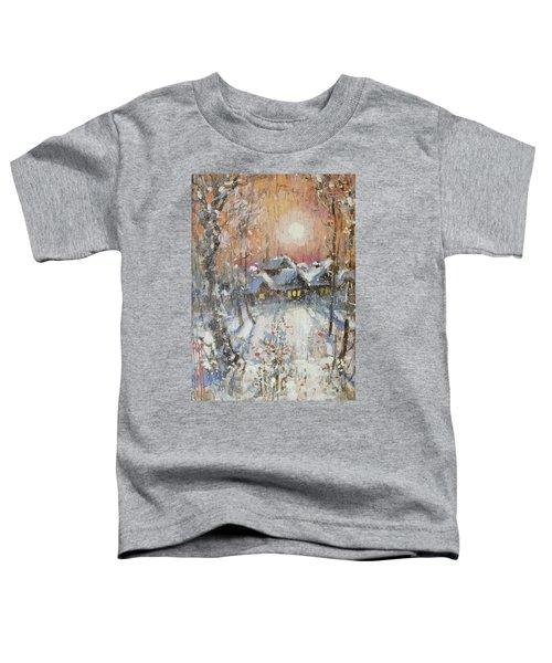 Snowy Village Toddler T-Shirt