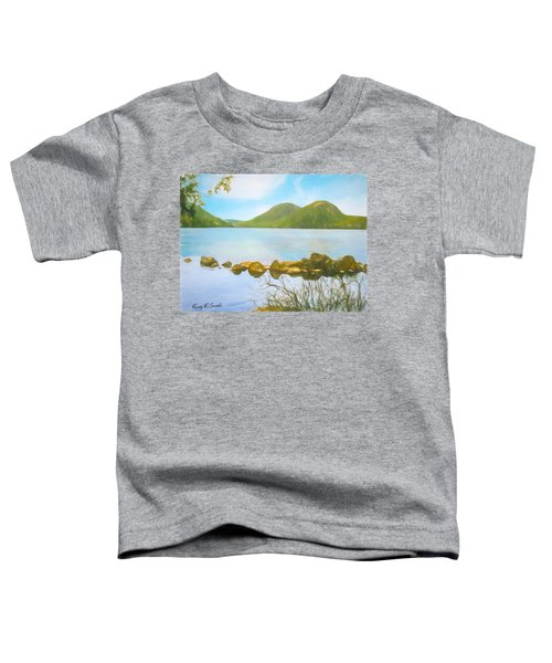 Soft Art Photograph Jordan Pond Acadia Nat. Park Maine Toddler T-Shirt