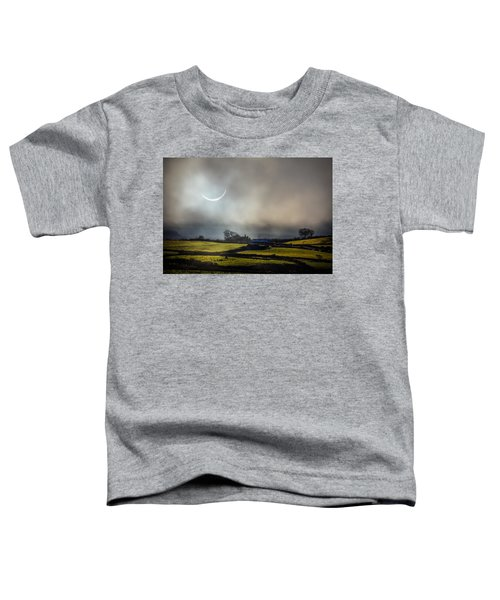 Toddler T-Shirt featuring the photograph Solar Eclipse Over County Clare Countryside by James Truett