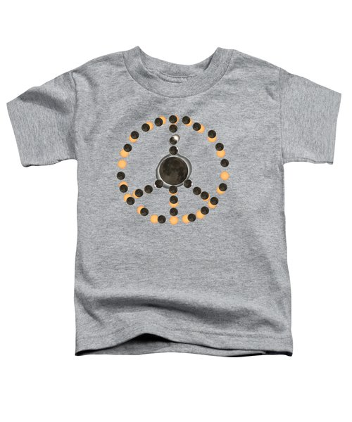 Solar Eclipse Peace On Earth Toddler T-Shirt