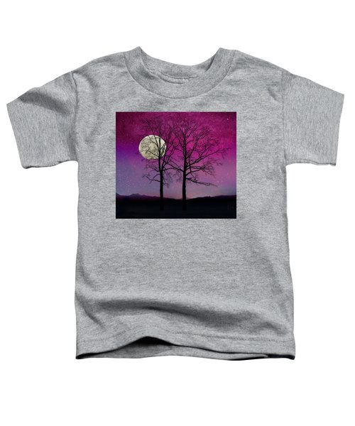 Solitude II Harvest Moon, Pink Opal Sky Stars Toddler T-Shirt