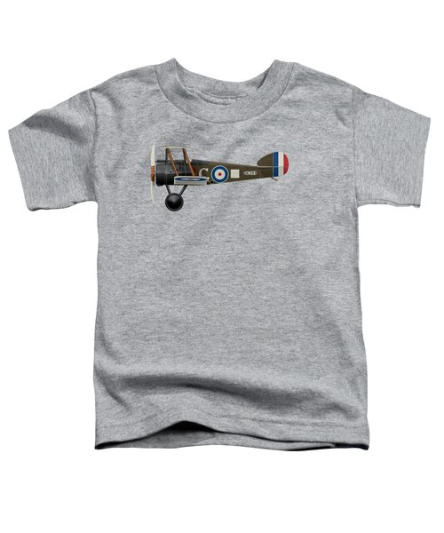 Sopwith Camel - B6344 - Side Profile View Toddler T-Shirt by Ed Jackson