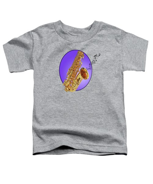 Sounds Of The Sax In Purple Toddler T-Shirt by Gill Billington