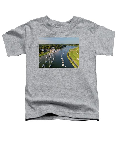 Southport Harbor Aerial Toddler T-Shirt