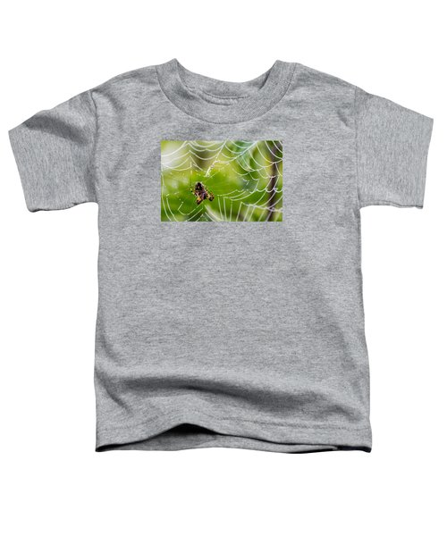 Spider And Spider Web With Dew Drops 05 Toddler T-Shirt