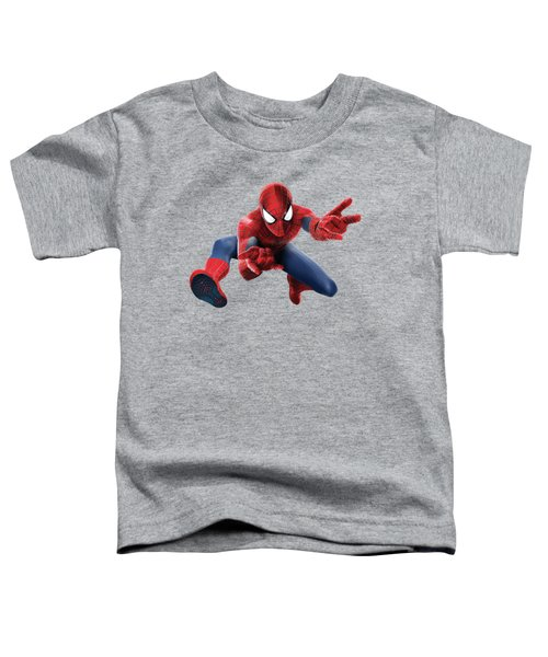 Spider Man Splash Super Hero Series Toddler T-Shirt by Movie Poster Prints