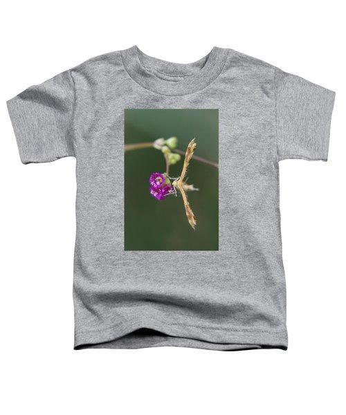 Spiderling Plume Moth On Wineflower Toddler T-Shirt