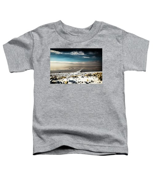 Spiral Jetty In Winter Toddler T-Shirt