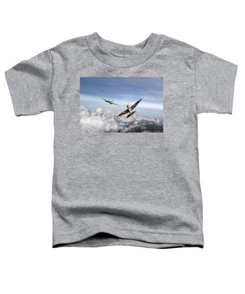 Spitfire Attacking Heinkel Bomber Toddler T-Shirt