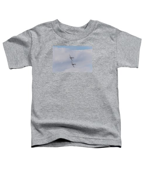 Spitfire Formation Pair Toddler T-Shirt by Gary Eason