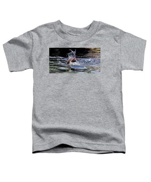 Splashing Humboldt Penguin Toddler T-Shirt