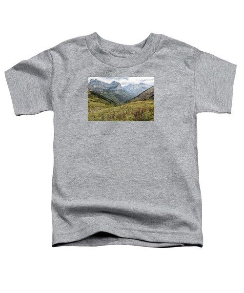Splendor From Highline Trail - Glacier Toddler T-Shirt