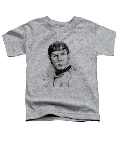 Spock Portrait Toddler T-Shirt by Olga Shvartsur