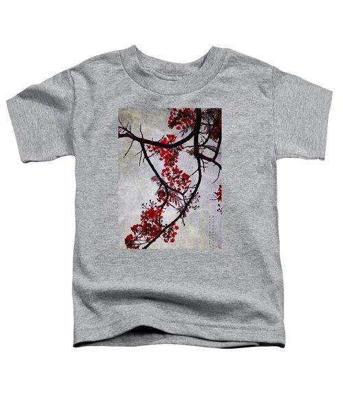 Spring Bloosom In Maldives. Flamboyant Tree II. Japanese Style Toddler T-Shirt