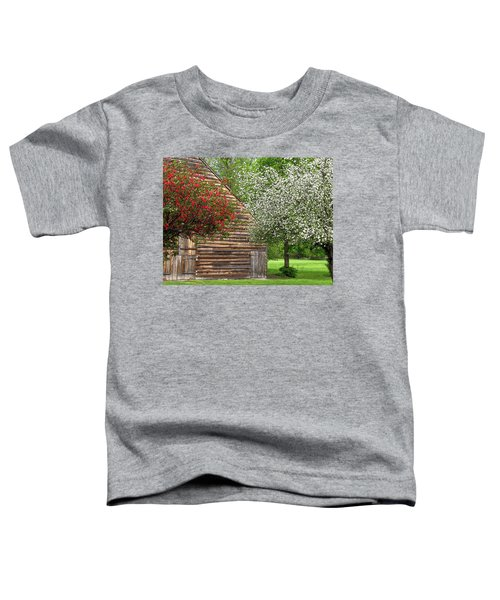 Spring Flowers And The Barn Toddler T-Shirt