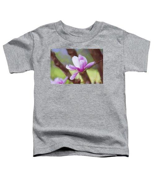 Spring Pink Saucer Magnolia Toddler T-Shirt
