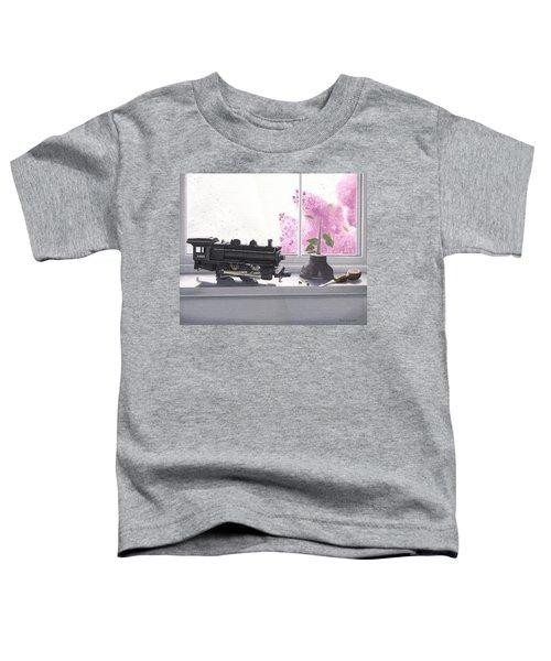 Spring Rain  Electric Train Toddler T-Shirt