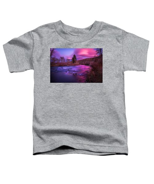 Spring Sunset Along The Truckee River Reno Nevada Toddler T-Shirt