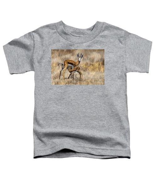 Springbok Mom And Calf Toddler T-Shirt