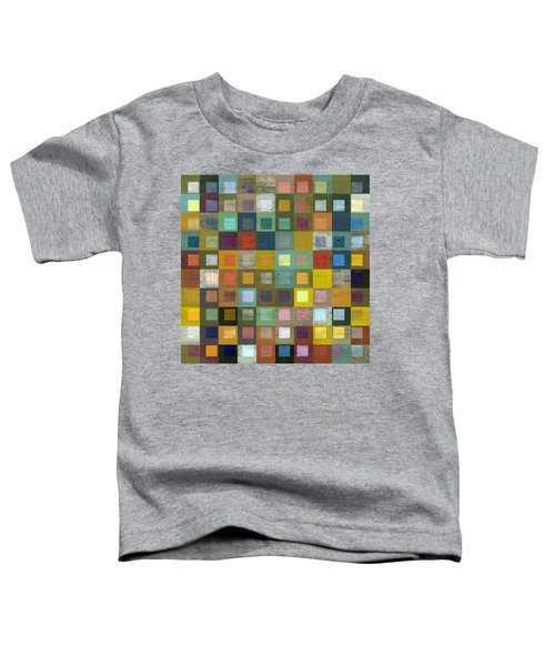 Squares In Squares Five Toddler T-Shirt by Michelle Calkins