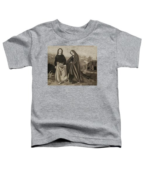 St. John And Blessed Mother At The Tomb Toddler T-Shirt
