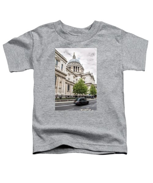St Pauls Cathedral With Black Taxi Toddler T-Shirt