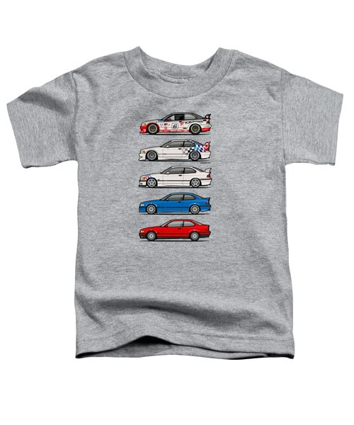 Stack Of Bmw 3 Series E36 Coupes Toddler T-Shirt