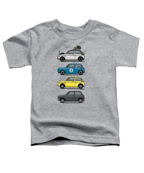 Stack Of Honda N360 N600 Kei Cars Toddler T-Shirt