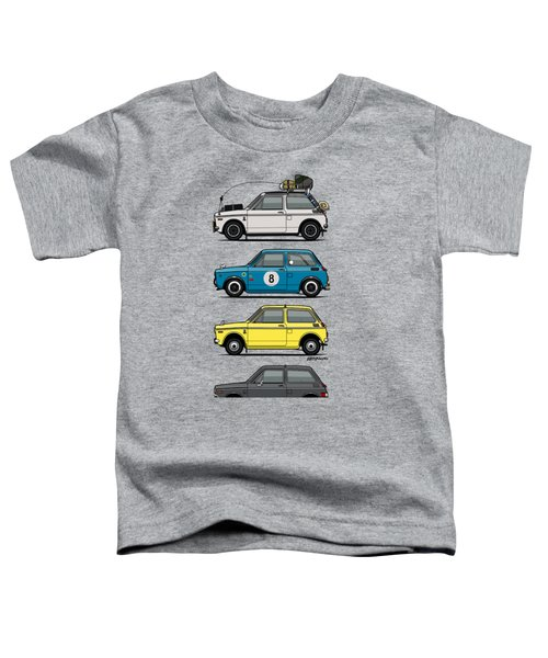 Stack Of Honda N360 N600 Kei Cars Toddler T-Shirt