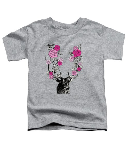 Stag And Roses Toddler T-Shirt