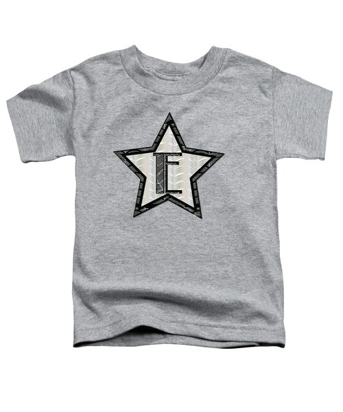 Star Of The Show Art Deco Style Letter E Toddler T-Shirt