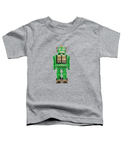 Star Strider Robot Green Toddler T-Shirt
