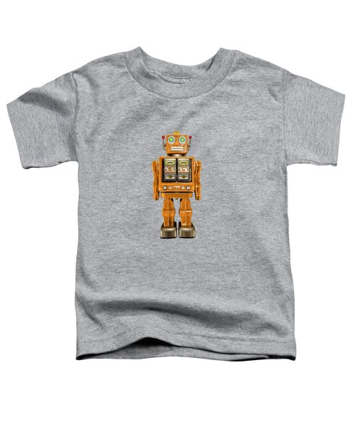 Star Strider Robot Orange Toddler T-Shirt