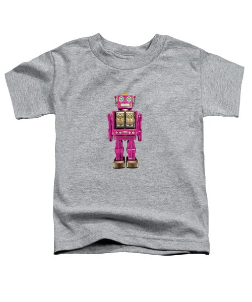 Star Strider Robot Pink Toddler T-Shirt