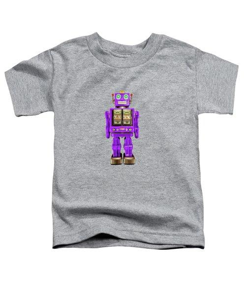 Star Strider Robot Purple On Black Toddler T-Shirt