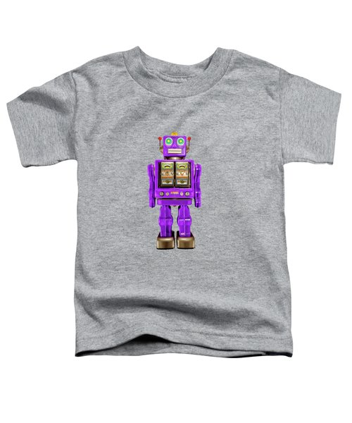 Star Strider Robot Purple On Black Toddler T-Shirt