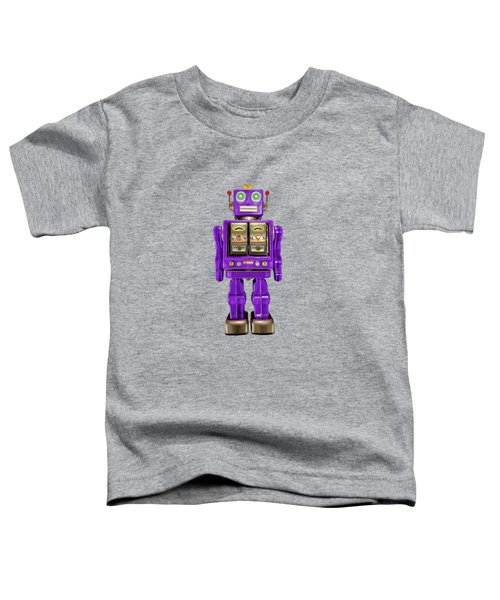 Star Strider Robot Purple Toddler T-Shirt