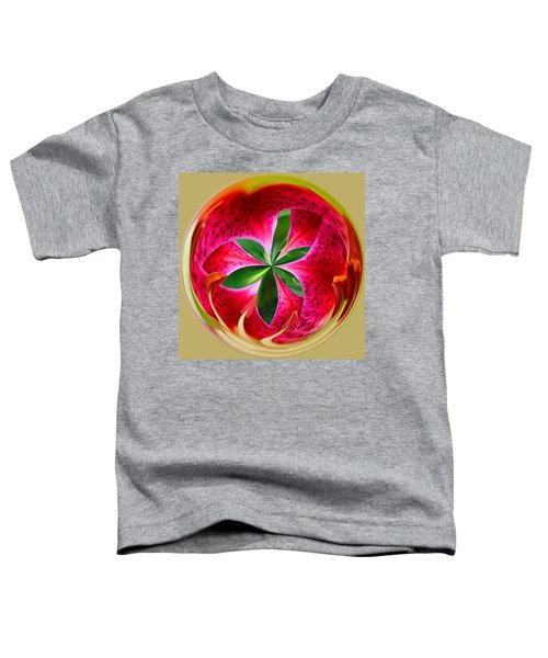 Toddler T-Shirt featuring the photograph Stargazer Lily Orb by Bill Barber