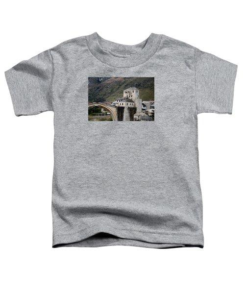 Stari Most Ottoman Bridge And Embankment Fortification Mostar Bosnia Herzegovina Toddler T-Shirt
