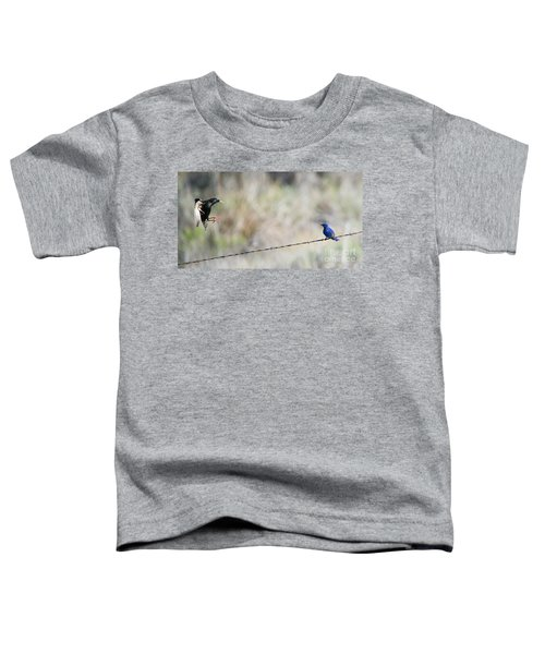 Starling Attack Toddler T-Shirt by Mike Dawson