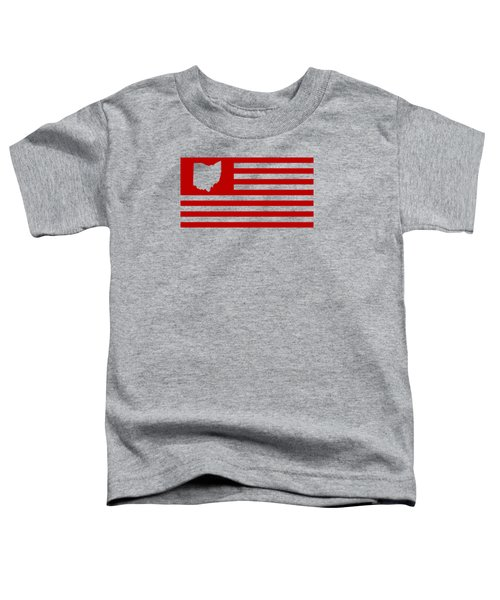 State Of Ohio - American Flag Toddler T-Shirt