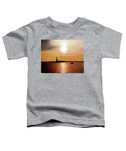 Statue Of Liberty At Sunset Toddler T-Shirt
