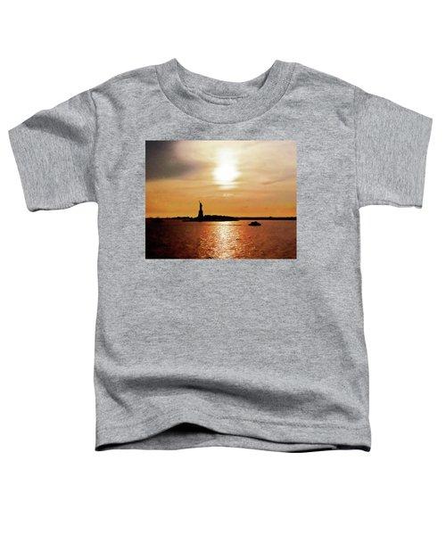 Statue Of Liberty At Sunset Toddler T-Shirt