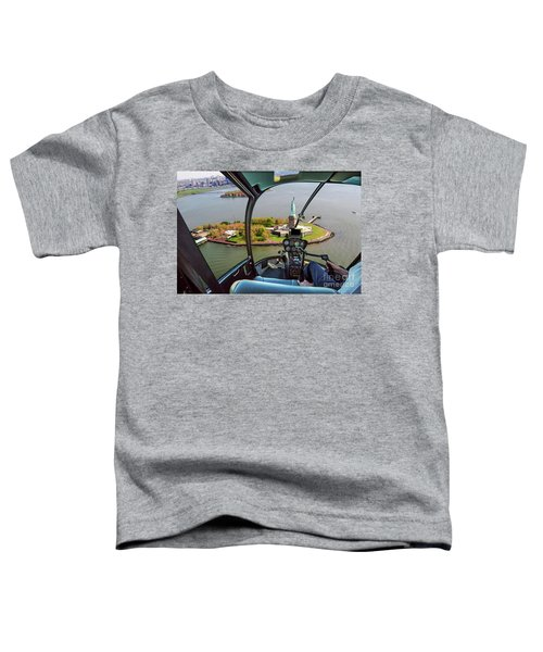 Statue Of Liberty Helicopter Toddler T-Shirt