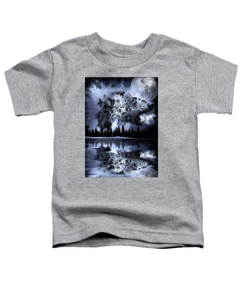 Steampunk Polar Bear Landscape Toddler T-Shirt