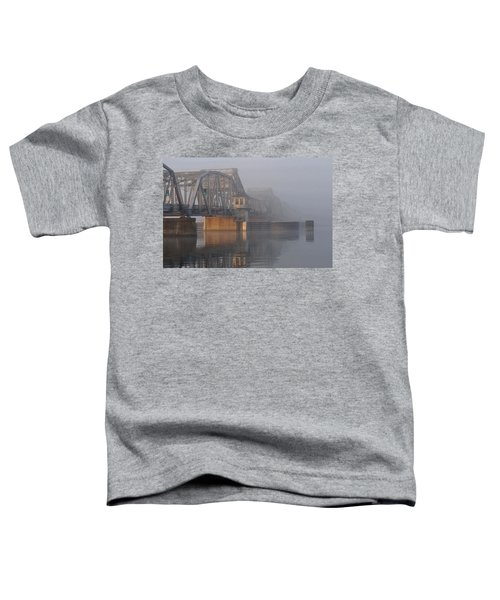 Steel Bridge In Fog Toddler T-Shirt