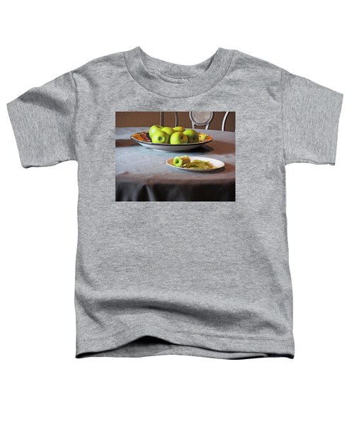 Still Life With Apples And Chair Toddler T-Shirt