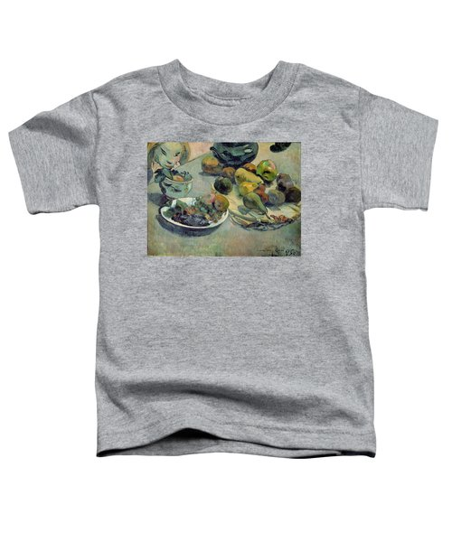 Still Life With Fruit Toddler T-Shirt by Paul Gauguin