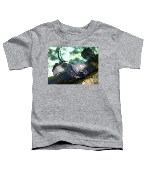 Toddler T-Shirt featuring the photograph Stingray Wave by Francesca Mackenney