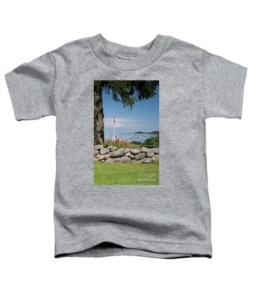 Stone Wall And Tenants Harbor, Maine  #8455 Toddler T-Shirt